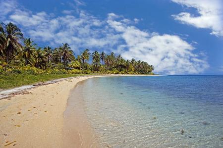 untouched caribbean beach in costa rica