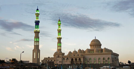 egypt revolution: mosquee in hurghada Stock Photo