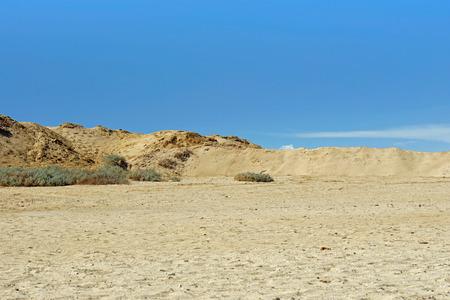 scenic desert landspace in el quesir in egypt photo