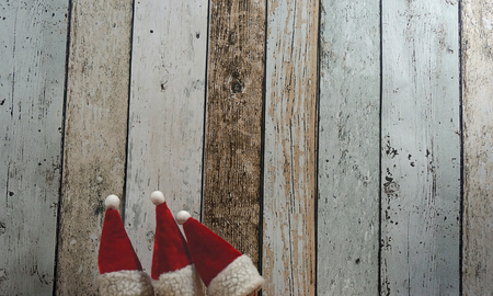 christmas time: decoration for christmas time on wooden background