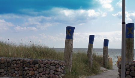 residual: impressions from fehmarn on a hot summer day Stock Photo