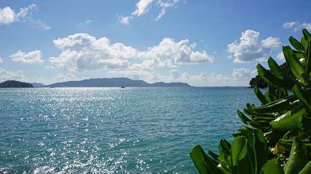 praslin: anse madge on praslin island Stock Photo