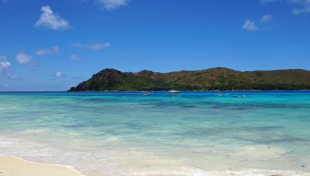praslin: tropical beach anse boudin on praslin island