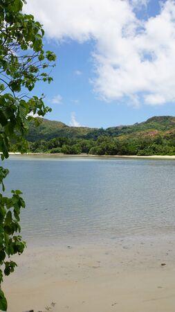 idyllic: tropical idyllic beach grand anse