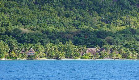 seychelles: praslin island on the seychelles