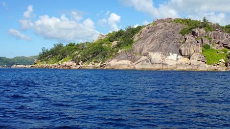 praslin: praslin island on the seychelles