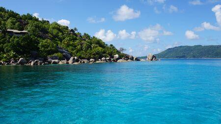 seychelles: felicite island on the seychelles Stock Photo