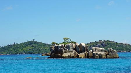 seychelles: small granite islands on seychelles Stock Photo