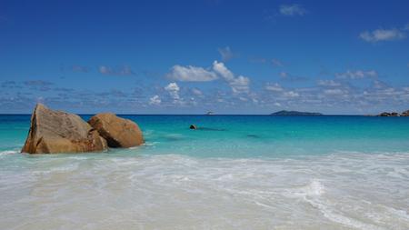 beach sea: anse lazio on praslin island Stock Photo