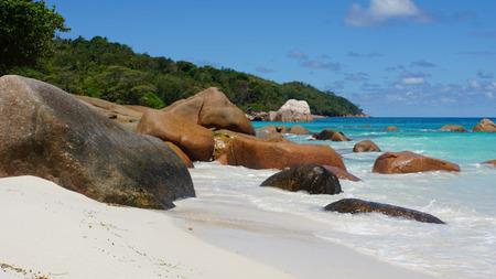lazio: calm perfect beach anse lazio Stock Photo