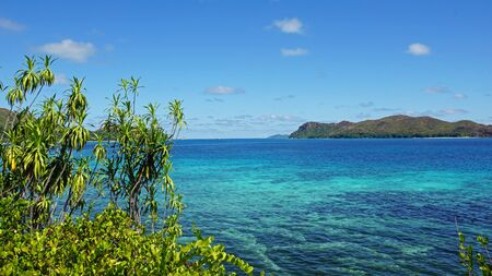 praslin: indian ocean from praslin island