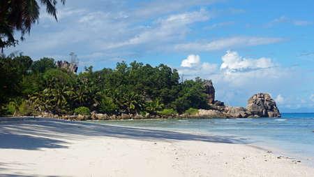 severe: tropical beach anse severe on la digue island
