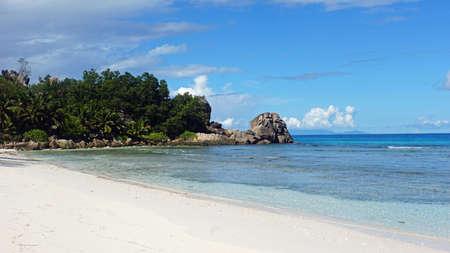 la digue: tropical beach anse severe on la digue island
