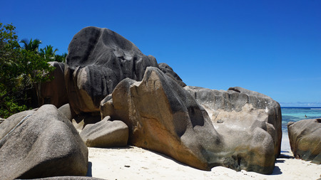 yearning: amazing granite rocks on a tropical beach