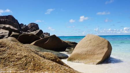 la digue: tropical beach grand anse on la digue