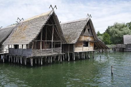 old stilt houses in unteruhldingen in germany