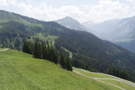 gree: summer over gree mountains of bregenz in austria