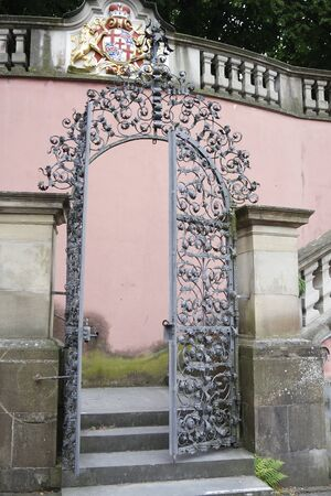archway: traditional german architecture with archway in meersburg