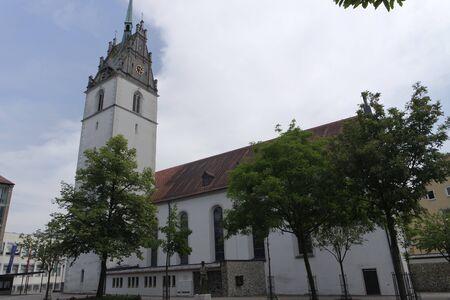 friedrichshafen: church of german town friedrichshafen at bodensee Stock Photo