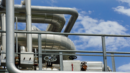 petrochemical plant: close up from Petrochemical Plant in hamburg harbor