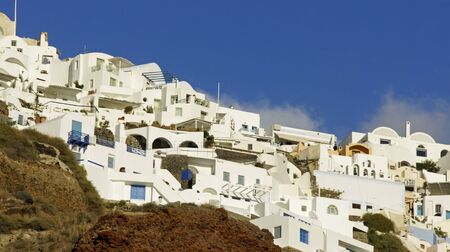 stone volcanic stones: Greece Iceland Santorini Stock Photo