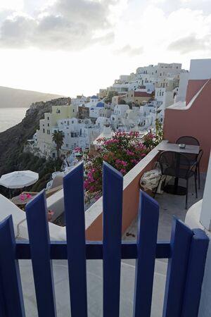 mediterranean homes: Greece Iceland Santorini Stock Photo