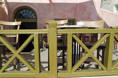 mediterranean homes: Oia village on santirini Stock Photo