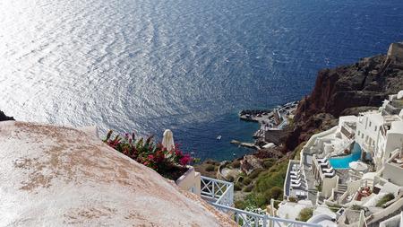 mediterranean homes: Santorini in autumn Stock Photo
