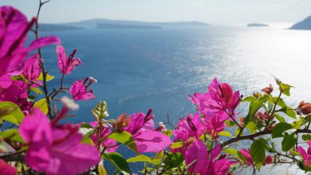 Santorini in de herfst Stockfoto - 48660232