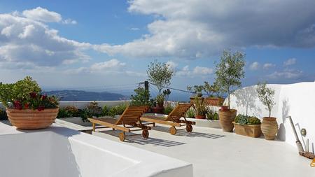 Santorini in de herfst Stockfoto - 48660153