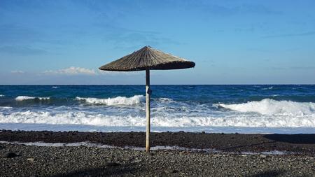 stone volcanic stones: santorini in autumn
