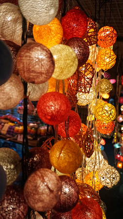 colorful lantern: colorful lantern in the streets of bangkok at night
