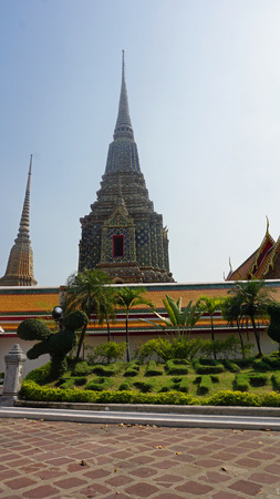wat pho: ancient wat pho in bangkok in thailand Stock Photo