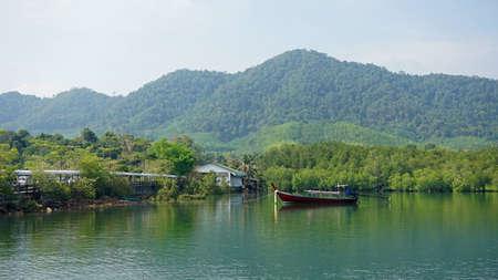 ko: amazing green coastline of ko lanta in thailand