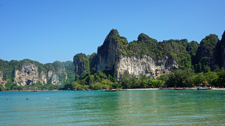 railey: amazing nature paradise railey island in thailand Stock Photo