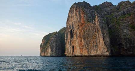 ko: limestone rocks in thailand near ko phi phi Stock Photo