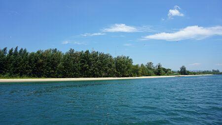 ko: natural green coastline of ko lanta