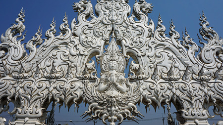 chiang mai: white temple near chiang mai in thailand