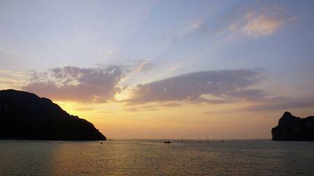 ko: amazing sunset at lo damlum bay on ko phi phi Stock Photo