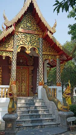 thai buddha: traditional thai buddha temple in chiang mai Stock Photo