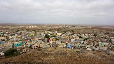 view over capitol city of sal island espargos Stock fotó