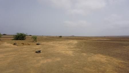 a mirage: mirage in the desert of cape verden