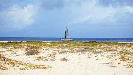 beach of santa maria on cape verden Stock Photo