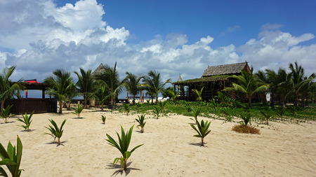 wooden beach hut on cap verde