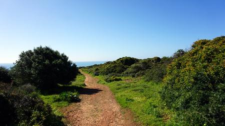 manuel lourenco beach on the algarve coast of portugal