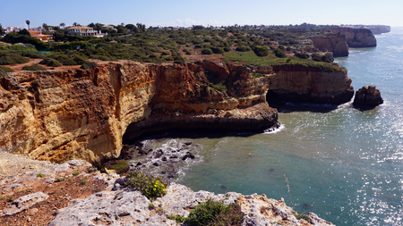 granite rocks on the algarve coast of portugal