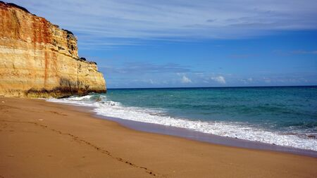 praia do benagil on the algarve coast of portugal