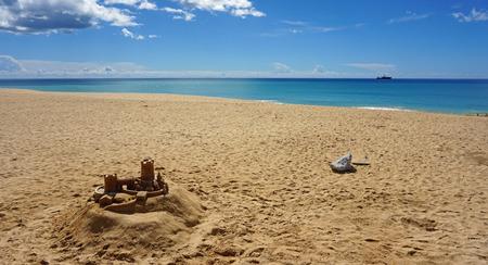armacao de pera poente beach algarve 版權商用圖片