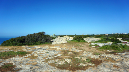 steep: manuel lourenco beach on the algarve coast of portugal