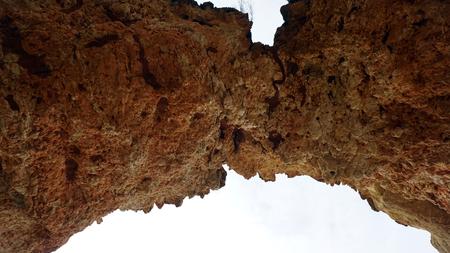 stone grotto on the algarve coast Stock Photo